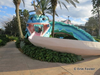 Water slide at Port Orleans French Quarter.