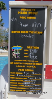 Pool hours are updated daily.