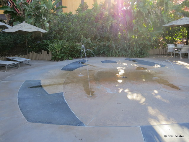 Polynesian, children's water play feature