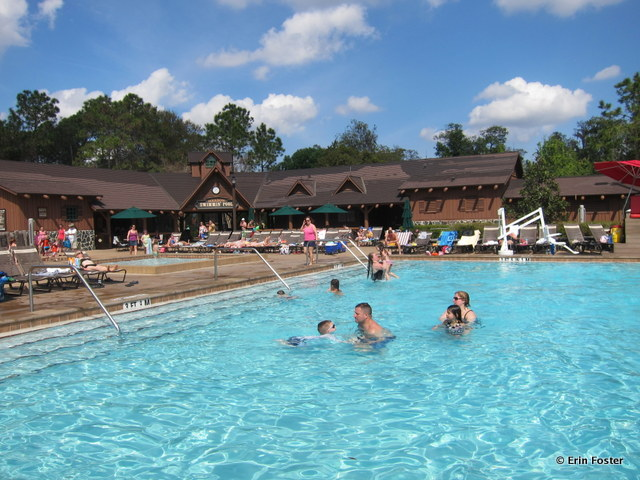 Fort Wilderness, Main Meadow pool, looking toward the snack bar
