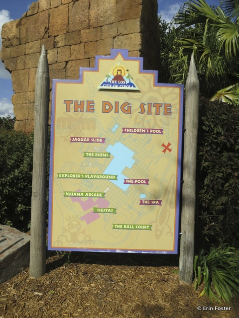 Coronado Spring resort, Dig Site pool and recreation area map