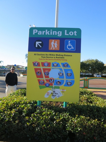 The Magic Kingdom parking lot at the TTC is HUGE. Make sure to note which section and row number are yours.