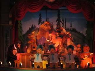 The Country Bear Jamboree is not open during morning Extra Magic Time. :-( Make sure an attraction will be open before wasting time on a walk across the park.