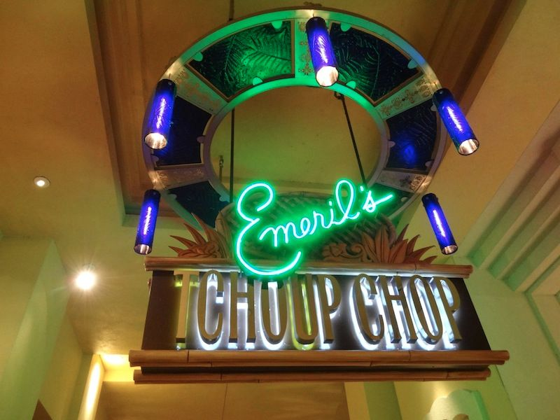 Emeril's Tchoup Chop Sign