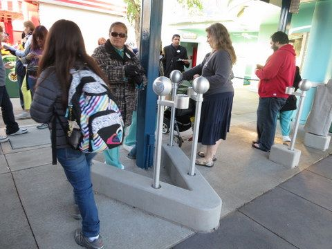 The introduction of RFID scanners at all the parks also included the elimination of turnstiles and gates. Strollers enter the same way as everyone else