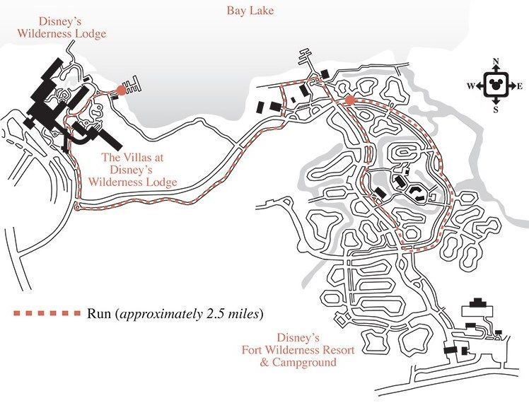 Wilderness Lodge Jogging Map