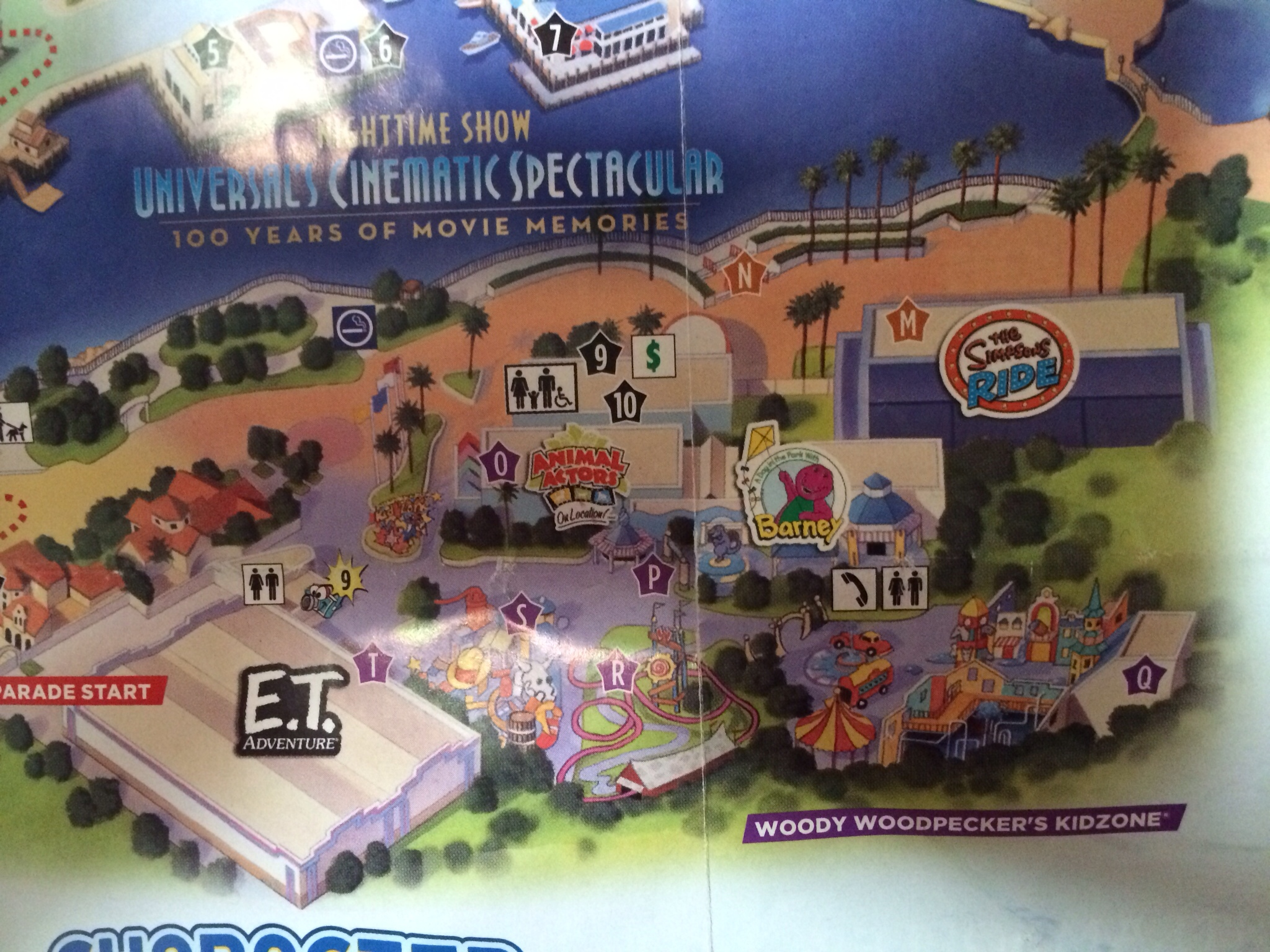 Springfield Usa Map.Universal Orlando Park Map Adds Springfield Attractions