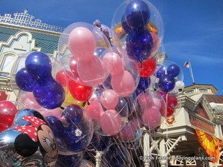 Even some thing small, like Magic Kingdom balloons, can add a festive air to a celebration.