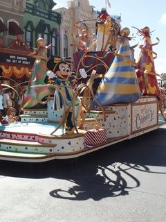 """The """"Move It, Shake It, Celebrate It"""" parade at the Magic Kingdom acknowledges the great number of guests who are celebrating something at Walt Disney World."""