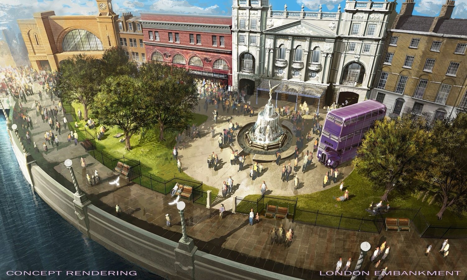 New concept art of Universal's Wizarding World of Harry Potter expansion from today's Diagon Alley webcast