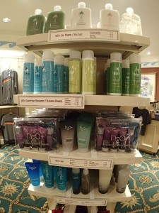 Products for sale in the gift shops.