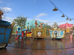 The Casey Junior water play area is a recent addition to the Magic Kingdom.