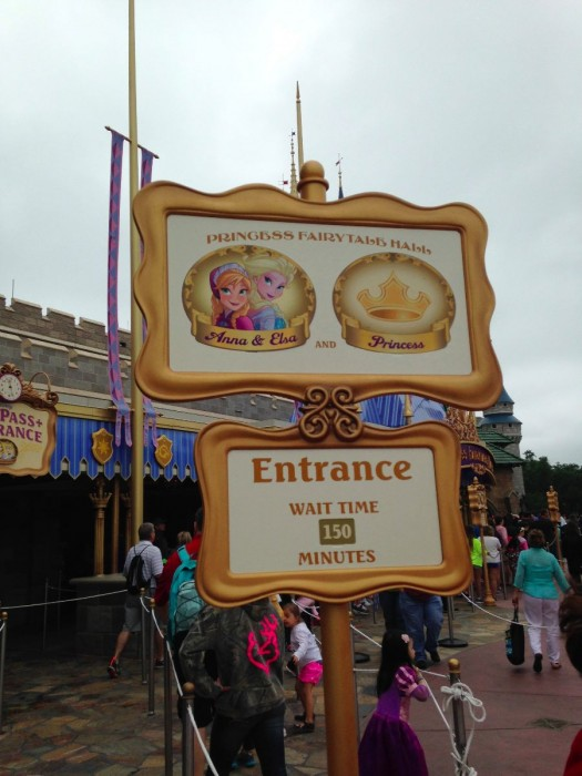 150 minute posted standby time for Anna and Elsa