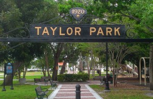 Cocoa Village's Taylor Park and playground.