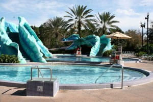 Older kids will appreciate having the slide at a moderate or deluxe resort.