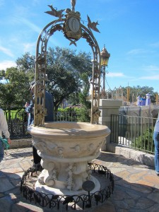 You may find the Magic Kingdom wishing well to be a place of comfort.