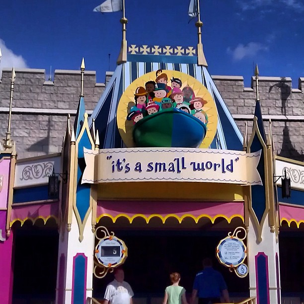it's a small world sign. Photo by Katie McNair