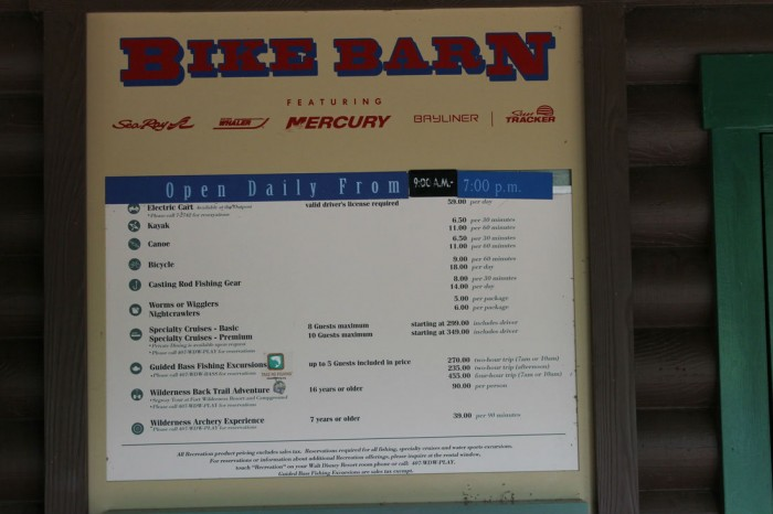 Bike Barn prices