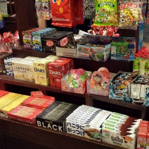 Candy table in Epcot's Japan shop