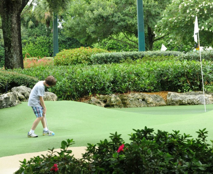 Disney World Mini Golf Fantasia Gardens