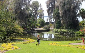 Old Cypress Gardens landscape with Lake Eloise in the background at Legoland Florida.  Photo by Thomas Cook