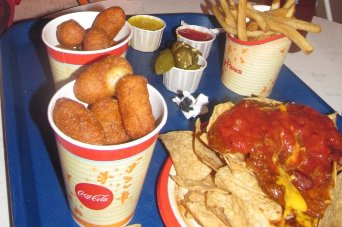 A nice variety of food offered at Casey's Corner, but tough to locate an indoor seat.