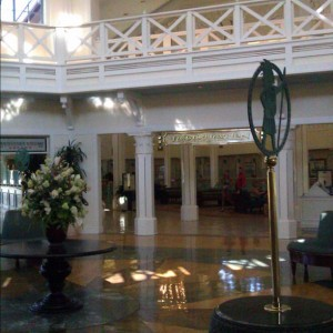 Lobby at Port Orleans with Flowers