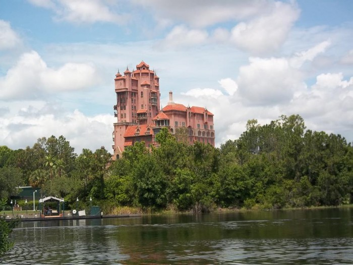 Tower of Terror from Walking Path