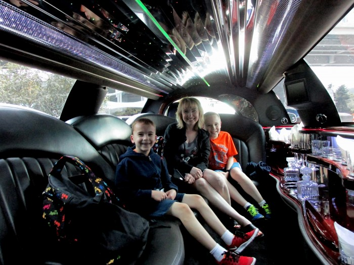 Limo ride from the airport to the Fairmont Waterfront.
