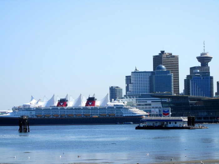 View from the sea wall - walking distance from the Fairmont Waterfront
