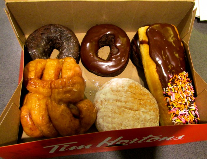 Tim Horton's treats at the Fairmont Waterfront food court.