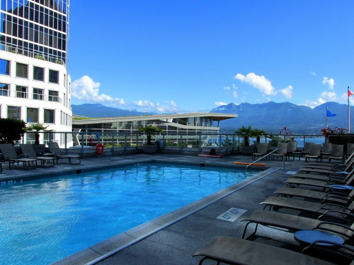 Fairmont Waterfront rooftop pool.