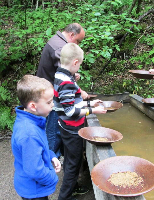 Liarsville Gold Rush Trail Camp Gold Panning ©www.disneyworldenthusiast.com