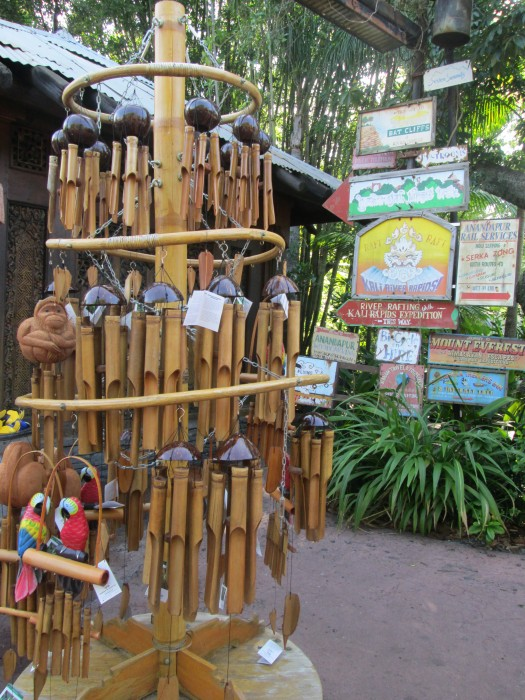 Bamboo wind chimes found in Asia at Animal Kingdom