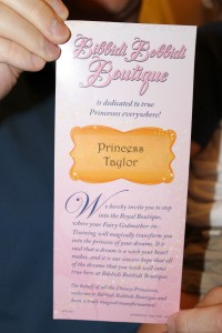 Bibbidi Bobbidi Boutique Invitation
