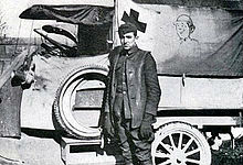 Walt and his ambulance after WWI.  Courtesy of Wikipedia
