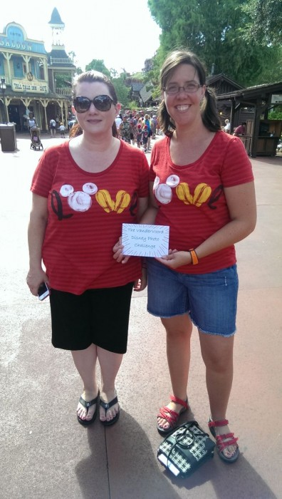 Disney Photo Challenge: Get a photo with someone wearing a matching clothing item. Challenge complete!