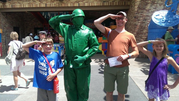Disney Photo Challenge: Pose with a Toy Story Green Army Man. Challenge complete!