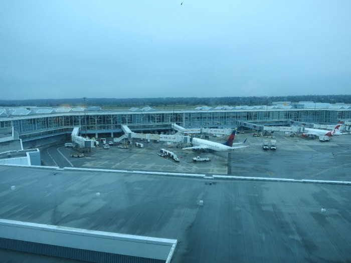 View from our Fairmont Airport room