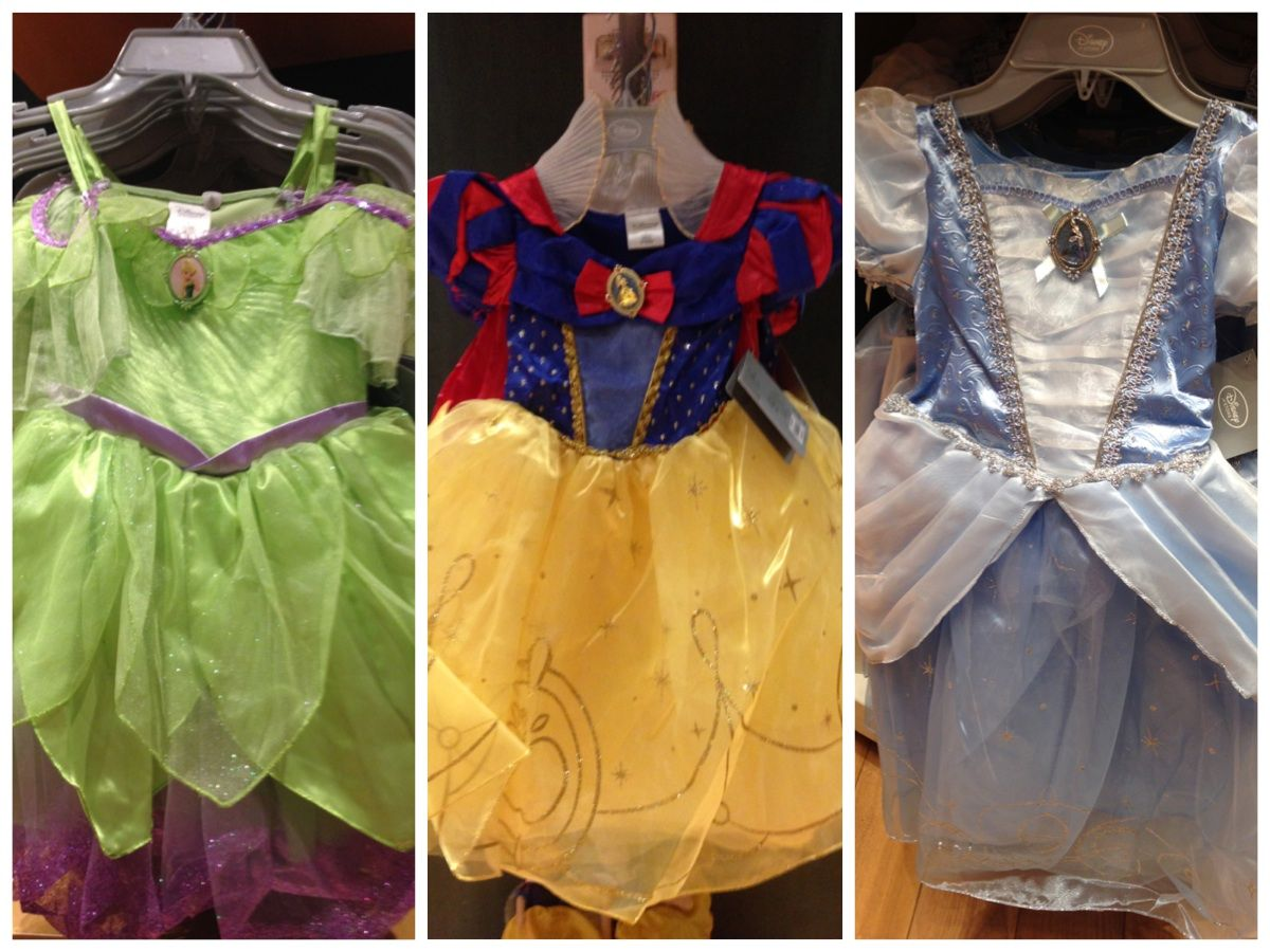 4efb844a0ec6 Disney Store princess dresses, fall 2014. Tinker Bell, Snow White,  Cinderella.
