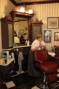 There is definetly an old time feel at the Harmony Barber Shop.