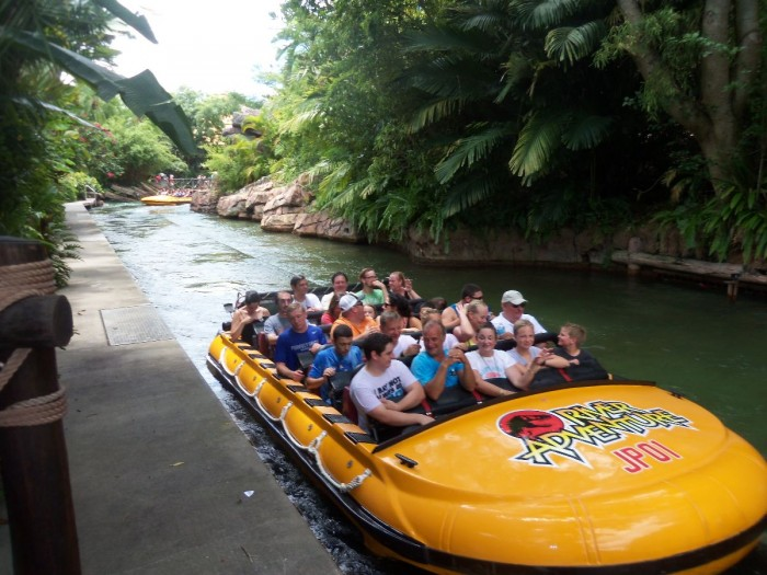 End of the Jurassic Park River Ride