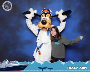 DCL borders come affixed to nearly every photo. You can't remove them.