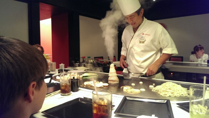 Epcot cuisine for one meal is good. Epcot cuisine for two meals is great. (Pictured: Teppan Edo in Japan)