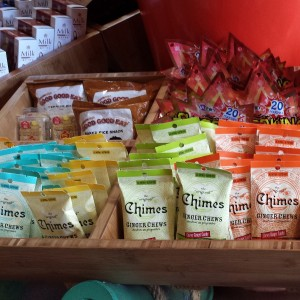 A variety of flavored ginger chews.