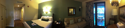 A panorama of the Hilton Head studio room. Photo - Laurel Stewart