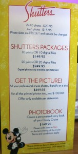 Mid-2014 photo pricing for a 7-night cruise.