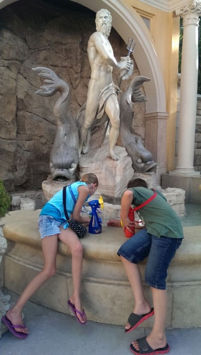 Tweens will begin to enjoy exploring the World Showcase in Epcot. It's fun to see all the coins in King Neptune's fountain in Italy.