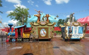 Casey Jr. Splash 'N' Soak Station was one of the favorite Magic Kingdom attractions among seniors. Do you think Grandma and Grandpa splash in the puddles, or just enjoy watching the youngsters? Photo courtesy of Disney (c)
