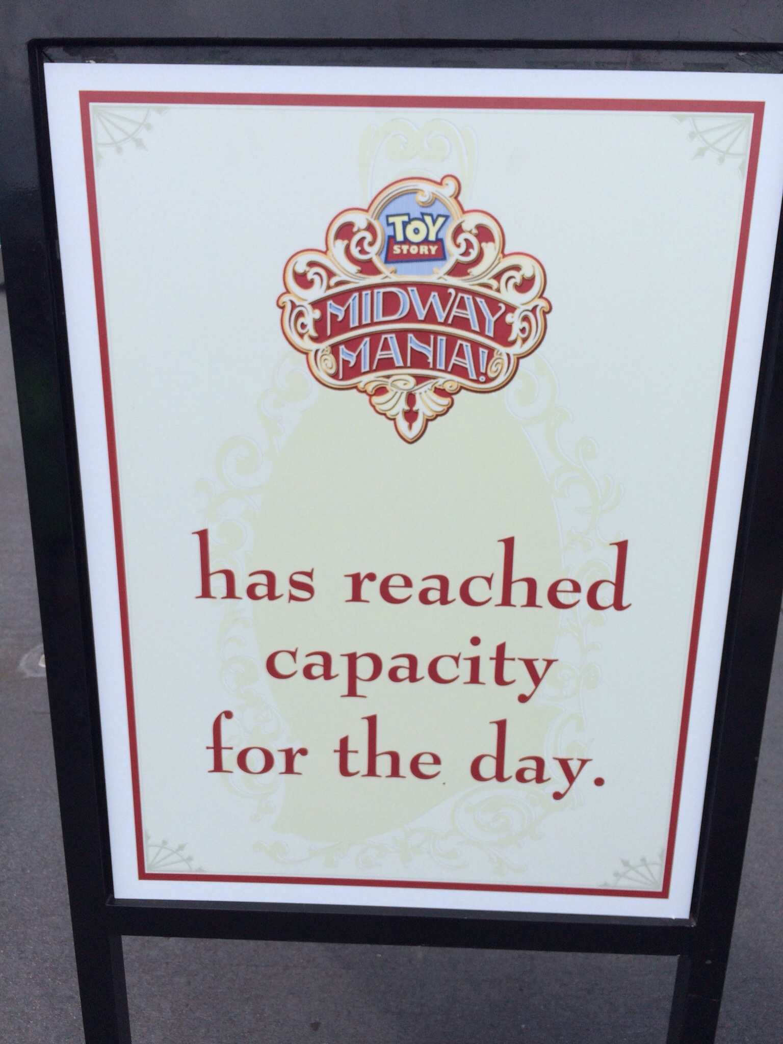 Toy Story Mania FastPass+ only test